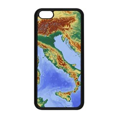 Italy Alpine Alpine Region Map Apple Iphone 5c Seamless Case (black)