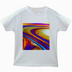 Soap Bubble Color Colorful Kids White T Shirts