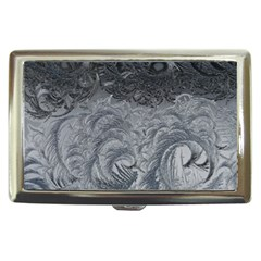 Abstract Ice Frost Crystals Frozen Cigarette Money Case