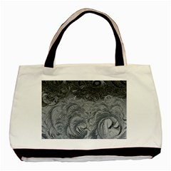 Abstract Ice Frost Crystals Frozen Basic Tote Bag by Wegoenart