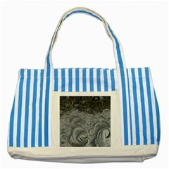 Abstract Ice Frost Crystals Frozen Striped Blue Tote Bag