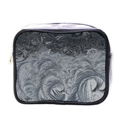 Abstract Ice Frost Crystals Frozen Mini Toiletries Bag (one Side) by Wegoenart