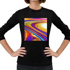 Abstract Architecture Background Women s Long Sleeve Dark T Shirt