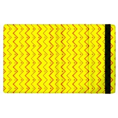 Yellow Background Abstract Apple Ipad 3/4 Flip Case by Wegoenart