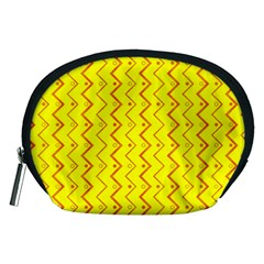 Yellow Background Abstract Accessory Pouch (medium)