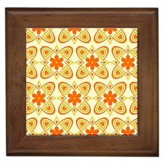 Background Floral Forms Flower Framed Tiles