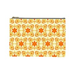 Background Floral Forms Flower Cosmetic Bag (large)