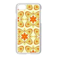 Background Floral Forms Flower Apple Iphone 8 Seamless Case (white)