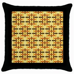 Abstract Background Vintage Throw Pillow Case (black) by Wegoenart