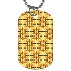 Abstract Background Vintage Dog Tag (one Side)