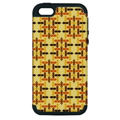 Abstract Background Vintage Apple Iphone 5 Hardshell Case (pc+silicone)