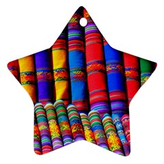 Substances Colorful Towels Scarf Ornament (star)