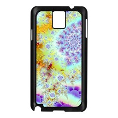 Golden Violet Sea Shells, Abstract Ocean Samsung Galaxy Note 3 N9005 Case (black)