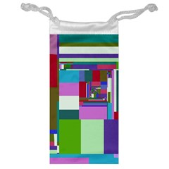 Fractal Gradient Colorful Infinity Art Jewelry Bag