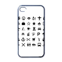 Icons Set Symbols Collection Apple Iphone 4 Case (black)