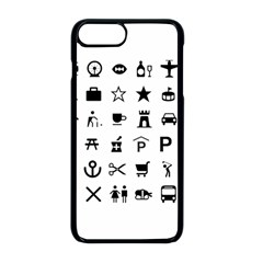 Icons Set Symbols Collection Apple Iphone 8 Plus Seamless Case (black)