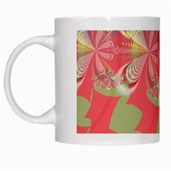 Fractal Gradient Colorful Infinity White Mugs