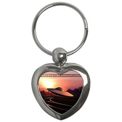 Fractal Mandelbulb 3d Ufo Invasion Key Chains (heart)