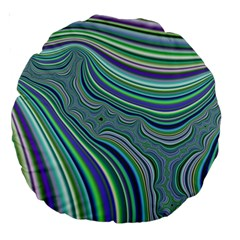 Art Fractal Gradient Colorful Infinity Pattern Large 18  Premium Round Cushions