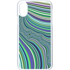 Art Fractal Gradient Colorful Infinity Pattern Apple Iphone X Seamless Case (white)
