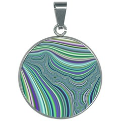 Art Fractal Gradient Colorful Infinity Pattern 30mm Round Necklace by Wegoenart