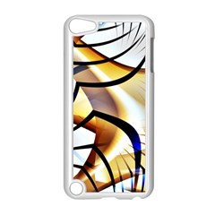 Pattern Fractal Gold Pointed Apple Ipod Touch 5 Case (white)