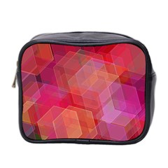 Abstract Background Texture Mini Toiletries Bag (two Sides)