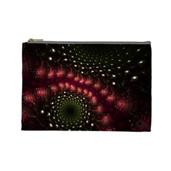 Background Texture Pattern Art Cosmetic Bag (large)