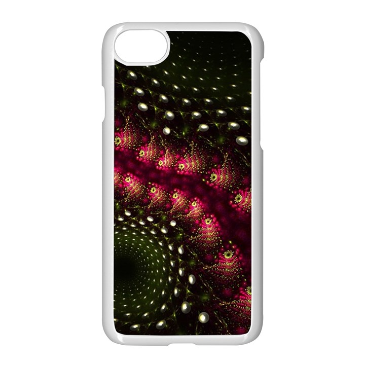 Background Texture Pattern Art Apple iPhone 7 Seamless Case (White)