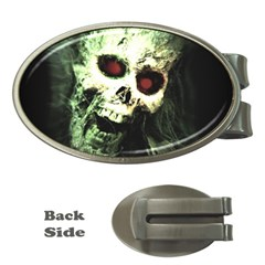 Screaming Skull Human Halloween Money Clips (oval)