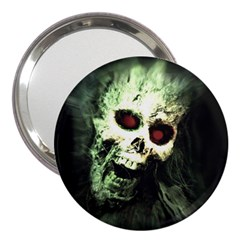 Screaming Skull Human Halloween 3  Handbag Mirrors by Wegoenart