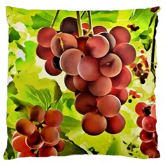 Grape Harvest Nature Figure Rustic Standard Flano Cushion Case (one Side)