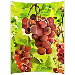 Grape Harvest Nature Figure Rustic Back Support Cushion