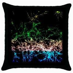 Wallpaper Fractal Lines Abstract Throw Pillow Case (black)