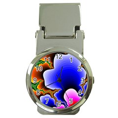 Fractal Background Pattern Color Money Clip Watches
