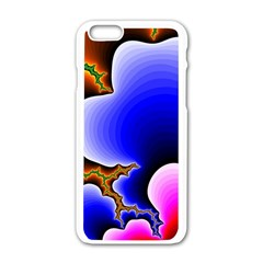 Fractal Background Pattern Color Apple Iphone 6/6s White Enamel Case