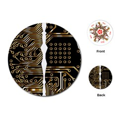 Brain Circuit Board Pcb Computer Playing Cards (round)