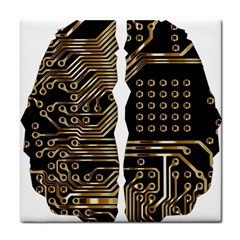 Brain Circuit Board Pcb Computer Face Towel by Wegoenart
