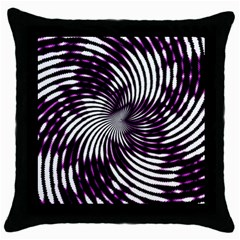 Background Texture Pattern Throw Pillow Case (black)