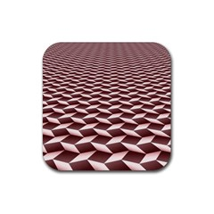 Graphics Geometric Paul Background Rubber Square Coaster (4 Pack)