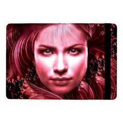 Portrait Woman Red Face Pretty Samsung Galaxy Tab Pro 10 1  Flip Case