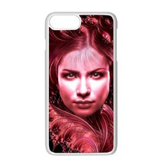 Portrait Woman Red Face Pretty Apple Iphone 8 Plus Seamless Case (white)