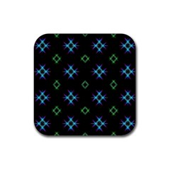 Background Abstract Vector Fractal Rubber Square Coaster (4 Pack)