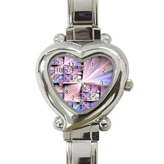 Fractal Art Artwork Digital Art Heart Italian Charm Watch