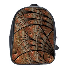 Fractals Artistic Digital Design School Bag (large)