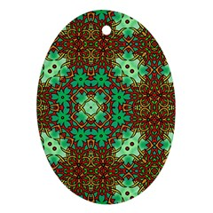 Art Design Template Decoration Oval Ornament (two Sides)