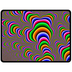 Fractal Background Pattern Color Fleece Blanket (large)  by Wegoenart