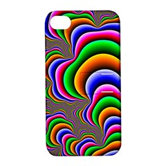 Fractal Background Pattern Color Apple Iphone 4/4s Hardshell Case With Stand