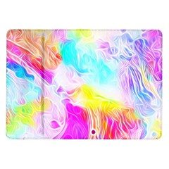 Background Drips Fluid Colorful Pattern Samsung Galaxy Tab 10 1  P7500 Flip Case