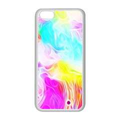 Background Drips Fluid Colorful Pattern Apple Iphone 5c Seamless Case (white)
